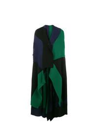 dunkelgrüner ärmelloser Mantel