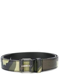dunkelgrüner bedruckter Ledergürtel von Givenchy