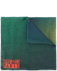 dunkelgrüner bedruckter Schal von Kenzo