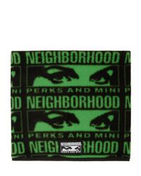 dunkelgrüner bedruckter Schal von Perks And Mini