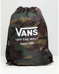 dunkelgrüner Camouflage Rucksack von Vans