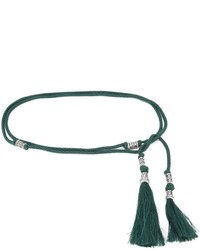 dunkelgrüner Gürtel von Lanvin