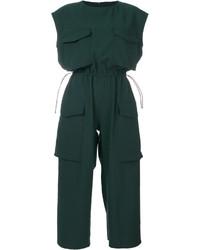 dunkelgrüner Jumpsuit von MM6 MAISON MARGIELA