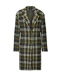 dunkelgrüner Mantel mit Schottenmuster von Marc O'Polo