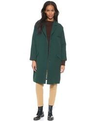 dunkelgrüner Mantel