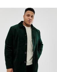 dunkelgrüner Mantel von ASOS DESIGN