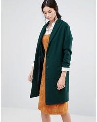 Dunkelgrüner Mantel von Helene Berman