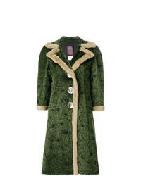 dunkelgrüner Mantel von John Galliano Vintage