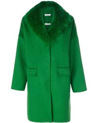 dunkelgrüner Mantel von P.A.R.O.S.H.