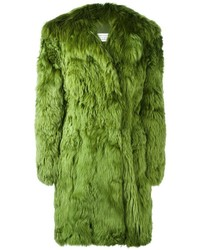dunkelgrüner Pelz von Maison Margiela