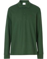 dunkelgrüner Polo Pullover von Burberry