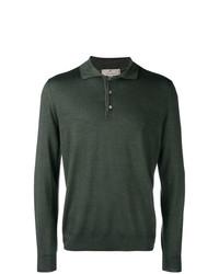 dunkelgrüner Polo Pullover von Canali