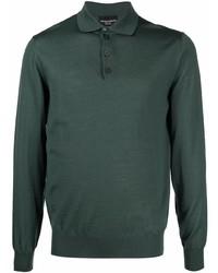 dunkelgrüner Polo Pullover von Emporio Armani
