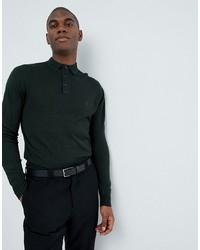 dunkelgrüner Polo Pullover von French Connection