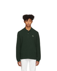 dunkelgrüner Polo Pullover von Lacoste