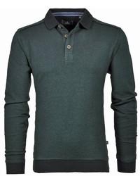 dunkelgrüner Polo Pullover von RAGMAN