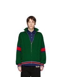 dunkelgrüner Pullover mit einem Reißverschluß von Gucci