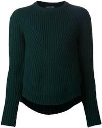 dunkelgrüner Pullover mit einem Rundhalsausschnitt von Alexander McQueen