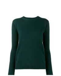 dunkelgrüner Pullover mit einem Rundhalsausschnitt von Alexandra Golovanoff