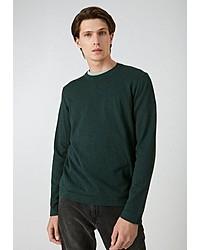 dunkelgrüner Pullover mit einem Rundhalsausschnitt von Armedangels