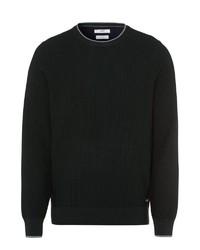 dunkelgrüner Pullover mit einem Rundhalsausschnitt von Brax