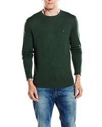 dunkelgrüner Pullover mit einem Rundhalsausschnitt von Calvin Klein