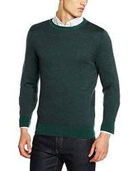 dunkelgrüner Pullover mit einem Rundhalsausschnitt von Daniel Hechter