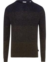 dunkelgrüner Pullover mit einem Rundhalsausschnitt von Esprit