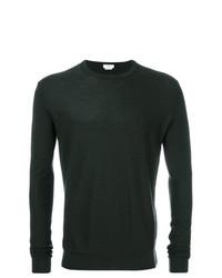 dunkelgrüner Pullover mit einem Rundhalsausschnitt von Fashion Clinic Timeless
