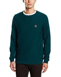 dunkelgrüner Pullover mit einem Rundhalsausschnitt von Jack & Jones