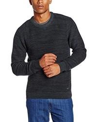 dunkelgrüner Pullover mit einem Rundhalsausschnitt von Lee