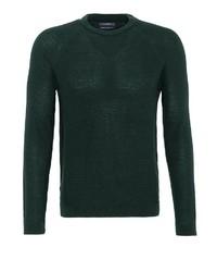 dunkelgrüner Pullover mit einem Rundhalsausschnitt von Lufian