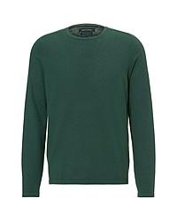 dunkelgrüner Pullover mit einem Rundhalsausschnitt von Marc O'Polo