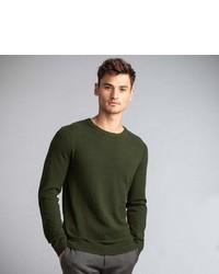 dunkelgrüner Pullover mit einem Rundhalsausschnitt von NEW IN TOWN