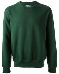 dunkelgrüner Pullover mit einem Rundhalsausschnitt von Ralph Lauren