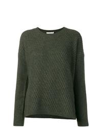 dunkelgrüner Pullover mit einem Rundhalsausschnitt von Vince