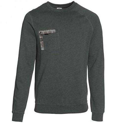dunkelgrüner Pullover mit einem Rundhalsausschnitt von Volcom