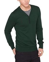 dunkelgrüner Pullover mit einem V-Ausschnitt von Q/S designed by