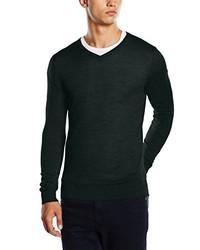 Dunkelgrüner Pullover mit V-Ausschnitt von Jack & Jones