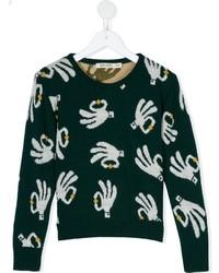dunkelgrüner Pullover von Bobo Choses