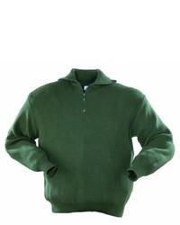 dunkelgrüner Pullover von Stricktroyer