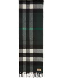 dunkelgrüner Schal mit Karomuster von Burberry