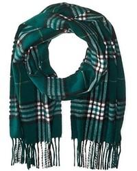 dunkelgrüner Schal mit Schottenmuster