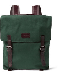 dunkelgrüner Segeltuch Rucksack