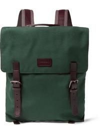 dunkelgrüner Segeltuch Rucksack von Dolce & Gabbana
