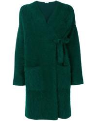 dunkelgrüner Strick flauschiger Mantel von P.A.R.O.S.H.