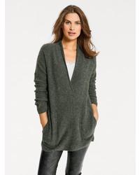 dunkelgrüner Strick Oversize Pullover von B.C. BEST CONNECTIONS by Heine