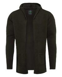 dunkelgrüner Strick Pullover mit einem Kapuze von Key Largo