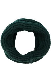 dunkelgrüner Strick Schal von Balmain