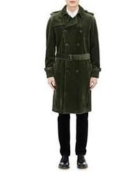 dunkelgrüner Trenchcoat